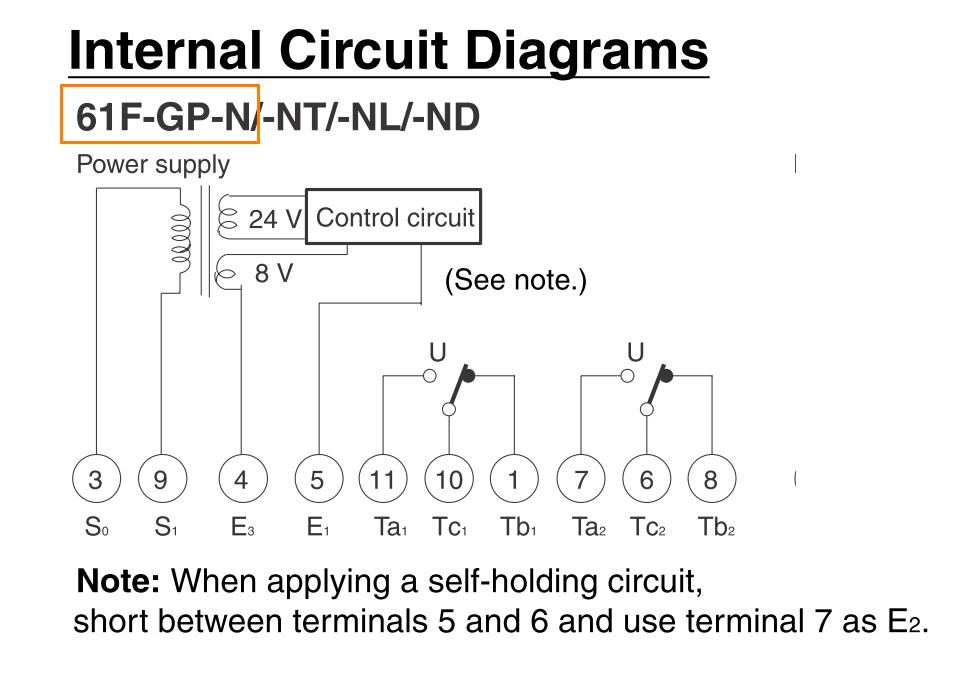 Internal circuit diagrams directory image omron 61f gp n Omron plc Diagrams at gsmx.co